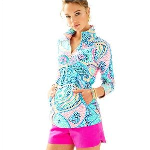 Lilly Pulitzer Skipper Popover in Tile Wave XS